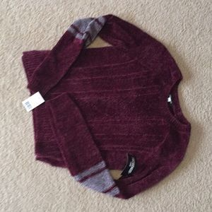 Burgundy velvet sweater